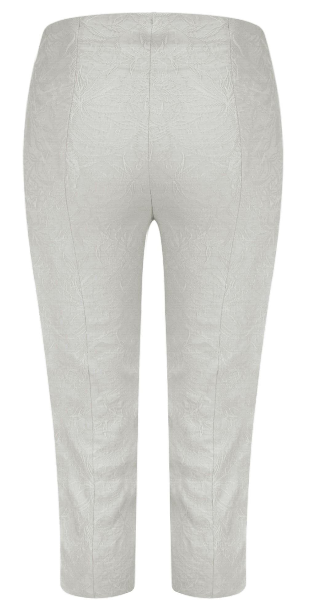 Marie 07 Grey Jacquard Crop Trouser main image