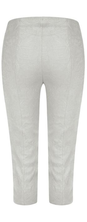 Robell Marie 07 Grey Jacquard Crop Trouser Grey