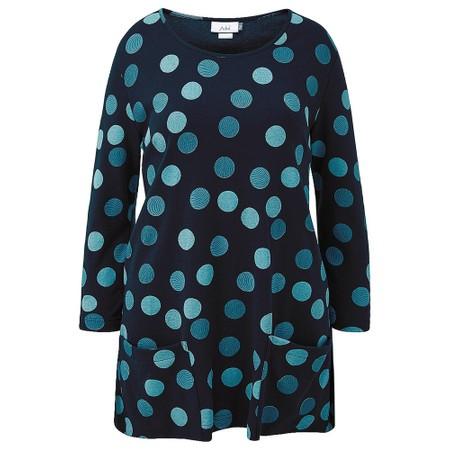 Adini Malo Spot Print Lacy Tunic - Black