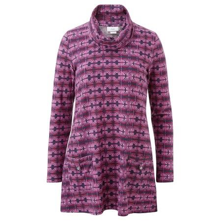 Adini Magnus Print Chelsie Tunic - Purple