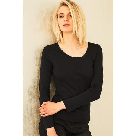Adini Cotton Rib Jani Top - Black