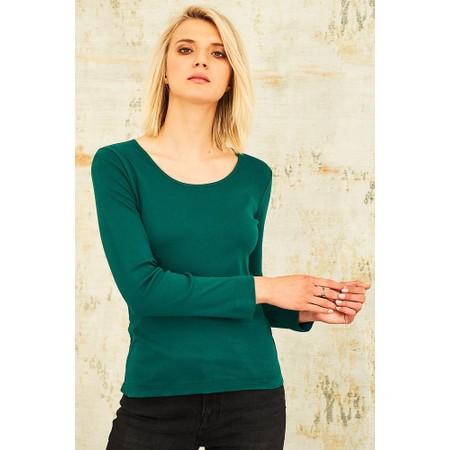 Adini Cotton Rib Jani Top - Green