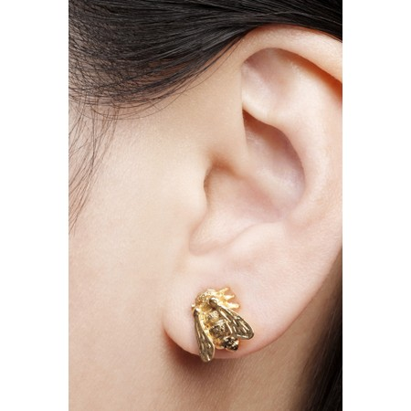 Bill Skinner Baby Bee Stud Earrings  - Gold