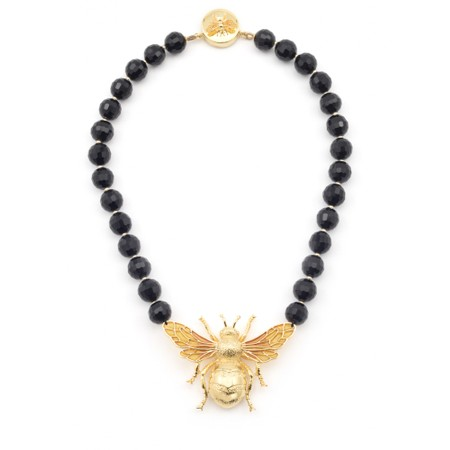 Bill Skinner Megan Bee Statement Necklace  - Black