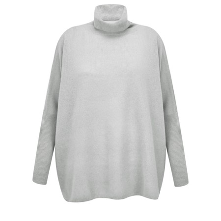Absolut Cashmere Clara Roll Neck Poncho Cashmere Jumper - Grey