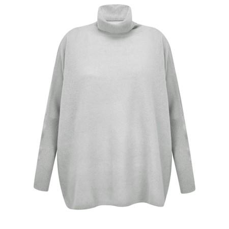 Absolut Cashmere Clara Roll Neck Poncho Cashmere Jumper - Grey