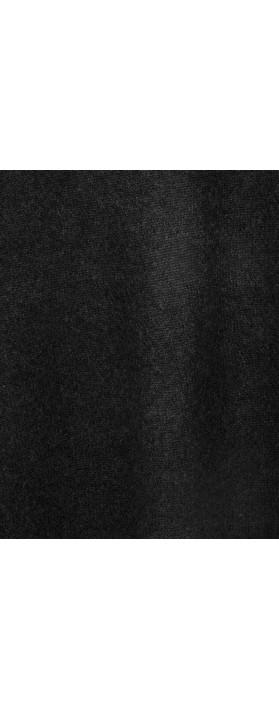 Absolut Cashmere Clara Roll Neck Poncho Cashmere Jumper Black