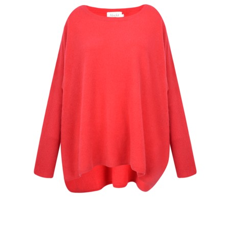 Absolut Cashmere Astrid Round Neck Poncho Cashmere Jumper - Red