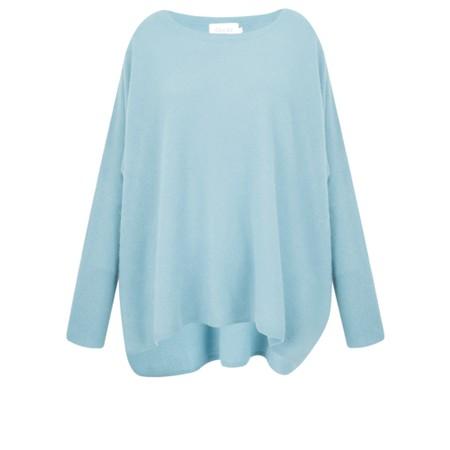 Absolut Cashmere Astrid Round Neck Poncho Cashmere Jumper - Blue