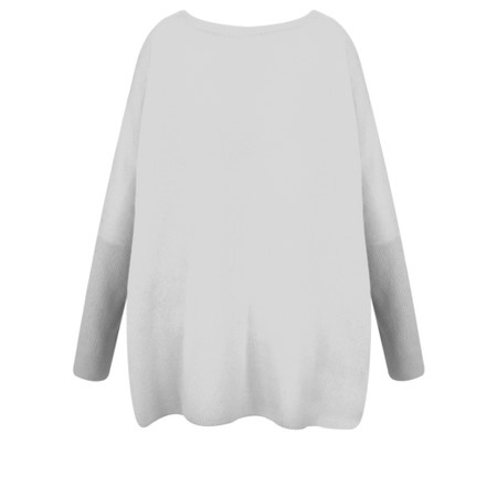 Absolut Cashmere Astrid Round Neck Poncho Cashmere Jumper - Grey