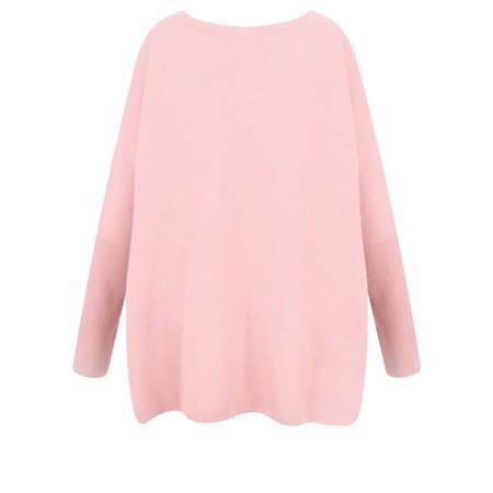 Absolut Cashmere Astrid Round Neck Poncho Cashmere Jumper - Pink