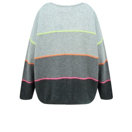 Absolut Cashmere Stella Neon Stripe Cashmere Jumper - Grey
