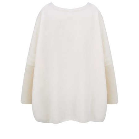 Absolut Cashmere Jeanne Intarsia Lips 'Rock'n'Roll' Cashmere Jumper - Off-White