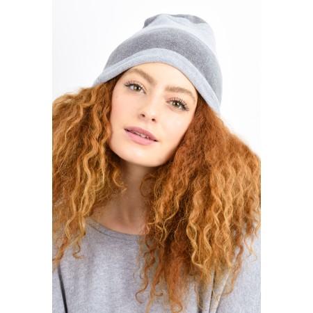 Mama B Kaki Stripe Hat - Grey