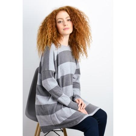 Mama B Sunny Stripe Swing Top - Grey