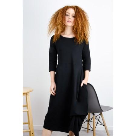 Mama B Forli Plain Jersey Dress - Black