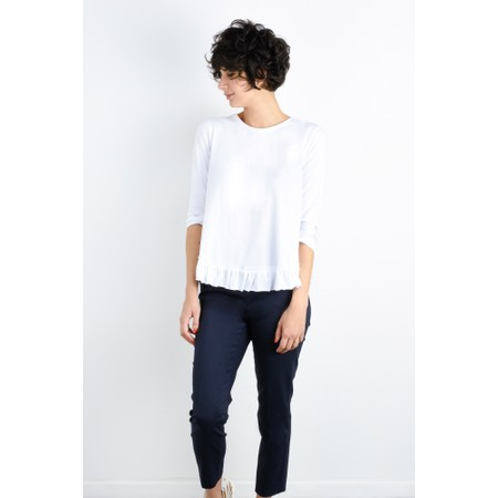 Foil First And Foremost Ruffle Tee - White