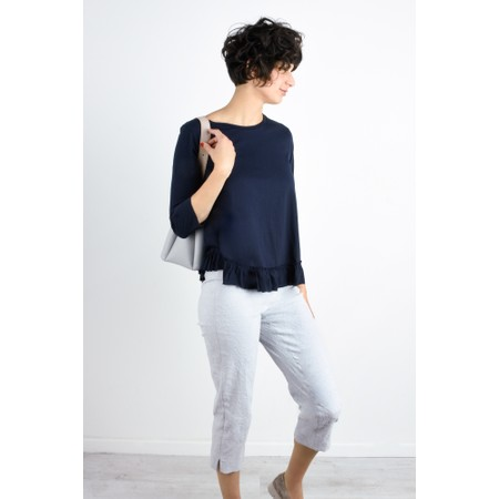 Foil First And Foremost Ruffle Tee - Blue