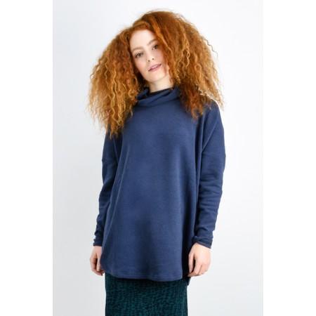 Mama B Oversized Bill Roll Neck Knit Top - Blue