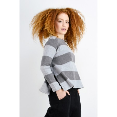 Mama B Cancun Stripe Top - Grey