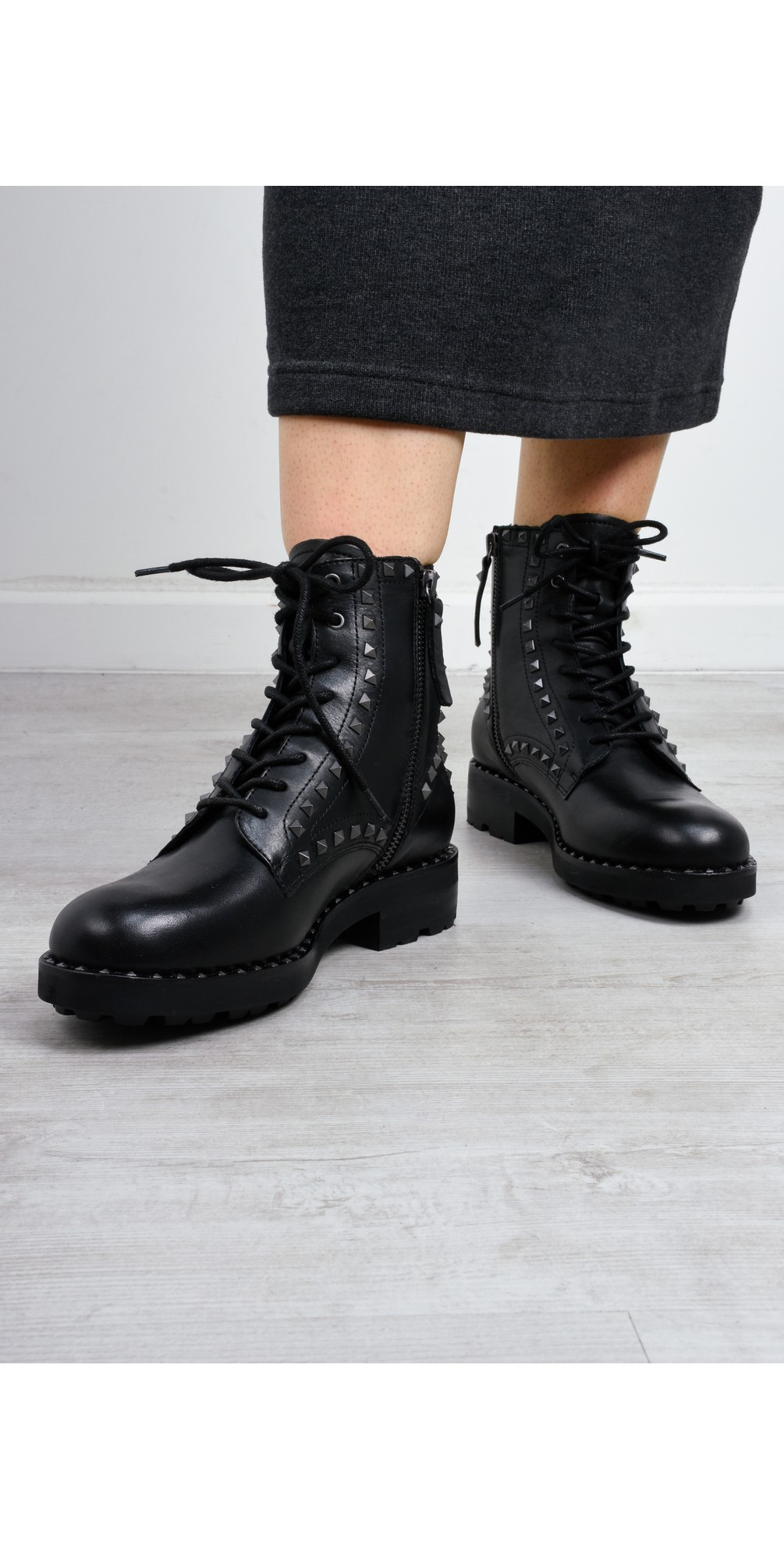 Wolf Biker Boot With Studs  main image