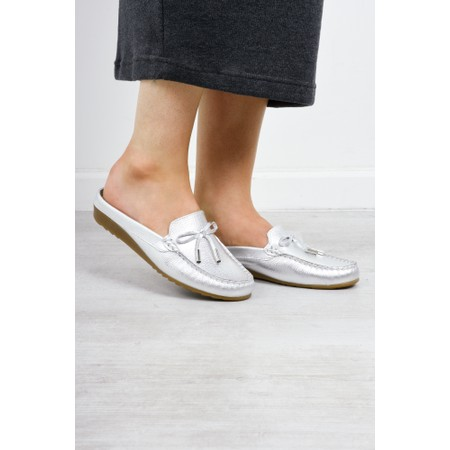 Gemini Label  Lara Slide Loafer - Silver