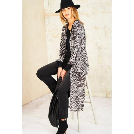 Adini Winter Shibori Print Tillie Jacket - Black