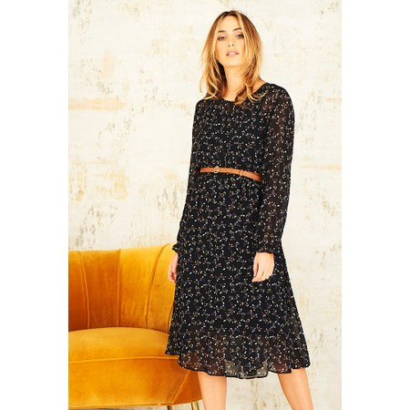 Adini Lumiere Print Sandi Dress - Black
