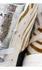D.A.T.E Zebra Hawk Animal Print Hi Top Sneaker