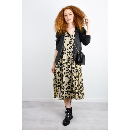 Masai Clothing Neoma Leopard Print Dress - Multicoloured