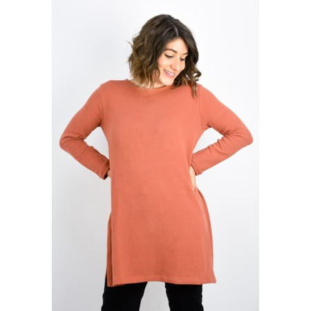 Mama B Carmen Tunic Top  - Brown