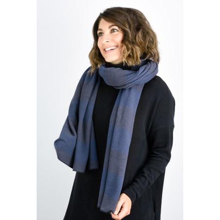 Mama B Segovia Stripe Long Scarf - Blue