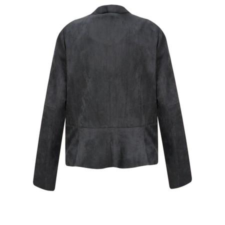 Sandwich Clothing Faux Suede Waterfall Jacket - Grey