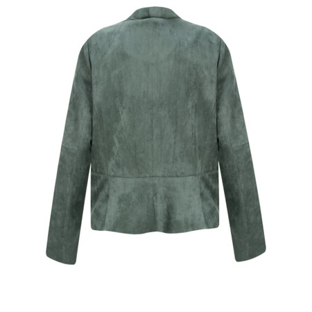 Sandwich Clothing Faux Suede Waterfall Jacket - Green