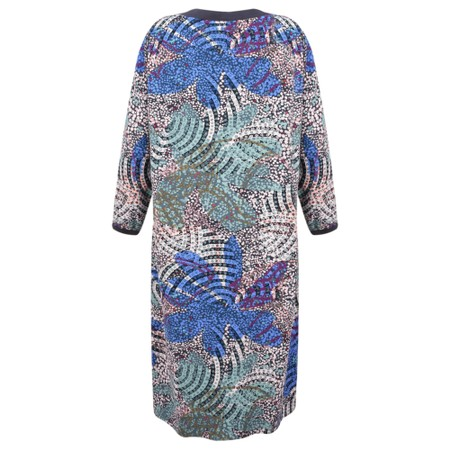 Sandwich Clothing Abstract Nature Print Dress  - Grey