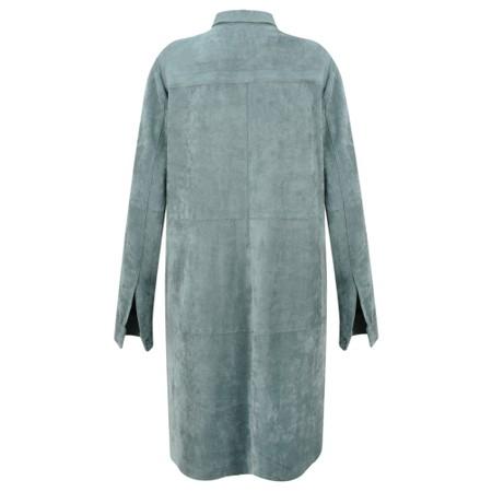 Sandwich Clothing Faux Suede Shirt Dress - Green