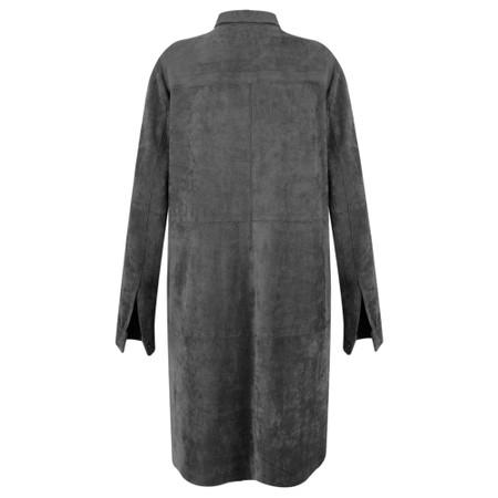 Sandwich Clothing Faux Suede Shirt Dress - Grey