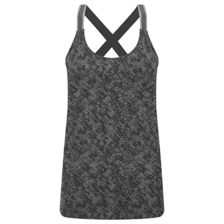 Sandwich Clothing Cross Back Snake Print Vest Top - Grey