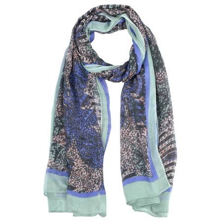 Sandwich Clothing Abstract Print Nature Scarf - Purple