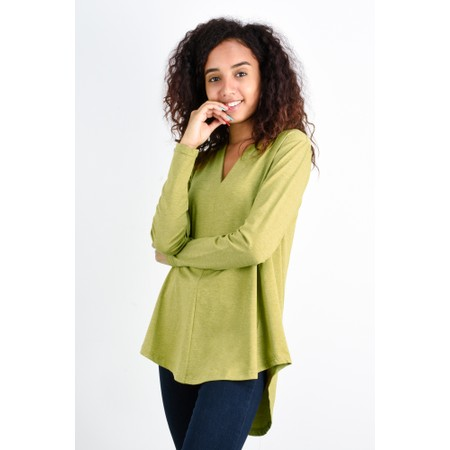 Foil Aiming High Swoop Neck Top - Green