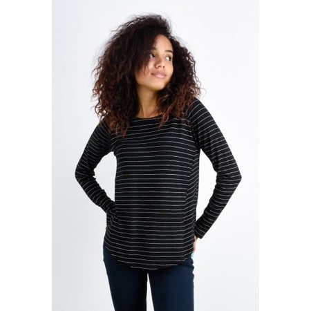 Foil Tone Up Relaxed Swing Tee - Black