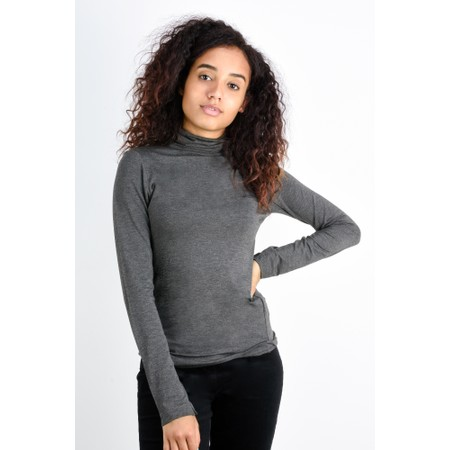 French Connection Venetia Jersey Top - Grey