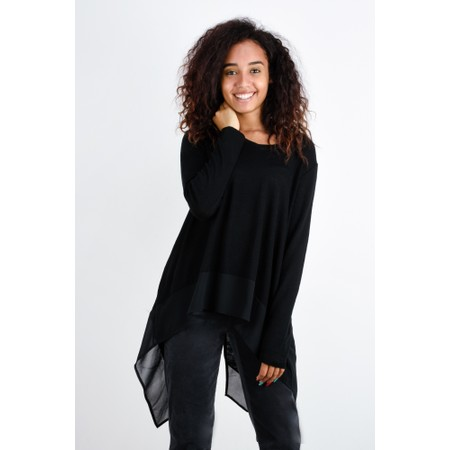 Foil Bound To Be Different Merino Top - Black