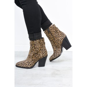 Ash Esquire Leopard Print Heeled Boot