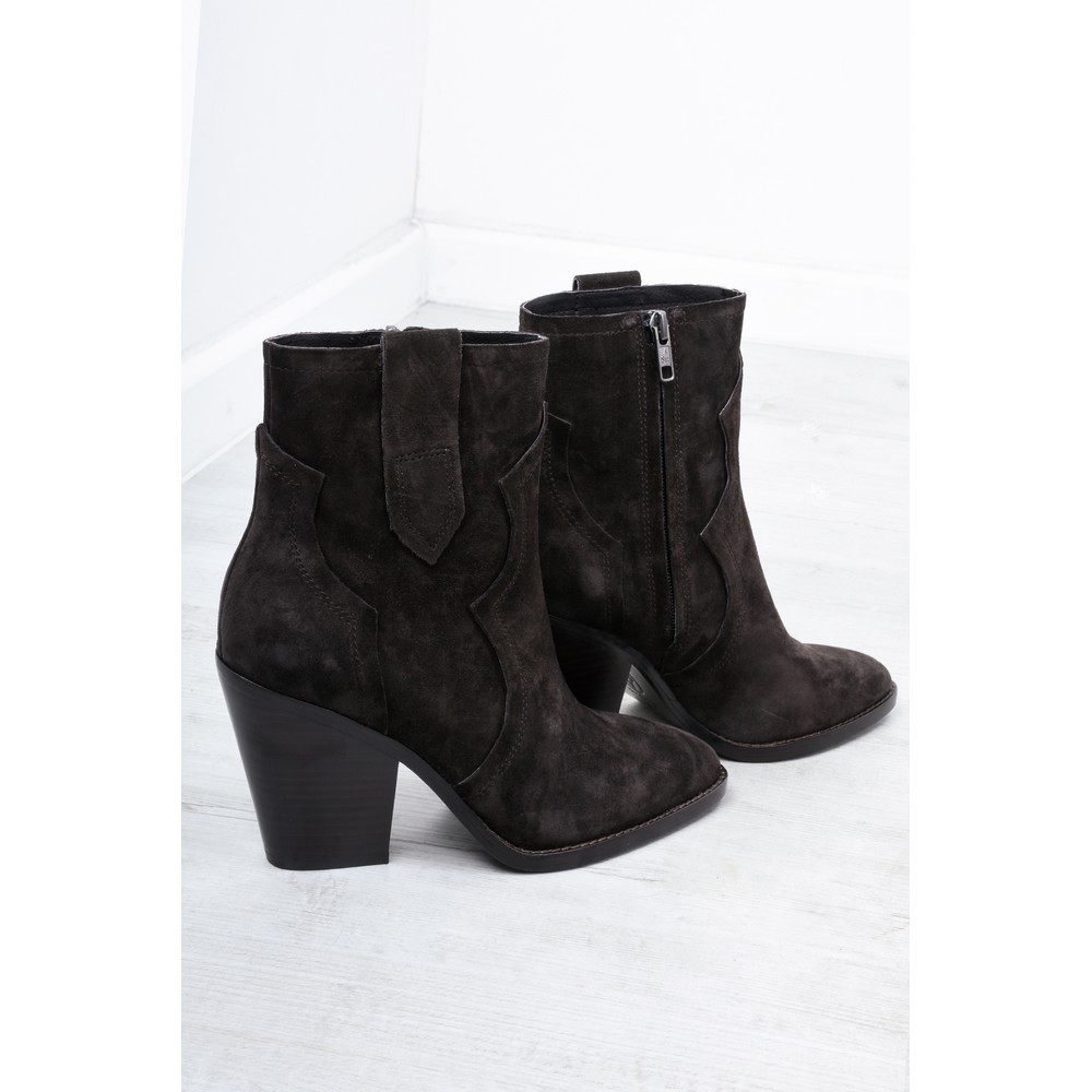 Ash Esquire Heeled Suede Boots  Brown