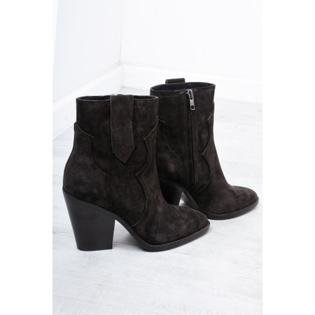 Ash Esquire Heeled Suede Boots  - Brown