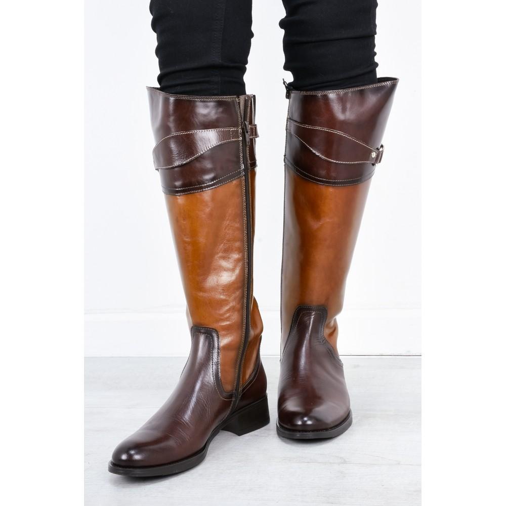 Luis Gonzalo Isla Long Buckle Boot Brown/Brandy