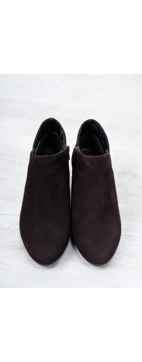 Gemini Label Shoes Isco Brown Suede Ankle Boot Brown