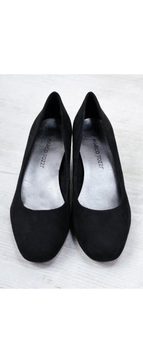 Marco Tozzi Davi Faux Suede Court Shoe Black