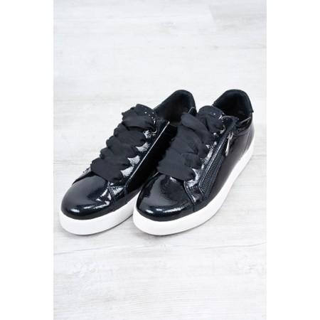 Marco Tozzi Durlo Patent Trainer Shoe - Blue